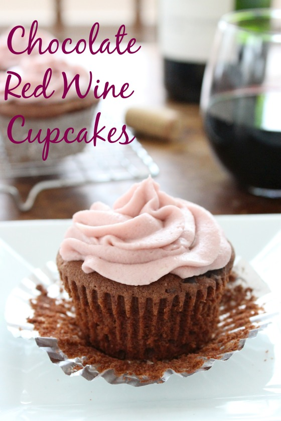 Chocolate Red Wine Cupcakes | If You Give A Blonde A Kitchen