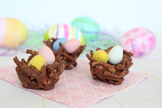 Chocolate Easter Nests with Mini Cadbury Eggs | If You Give a Blonde a Kitchen